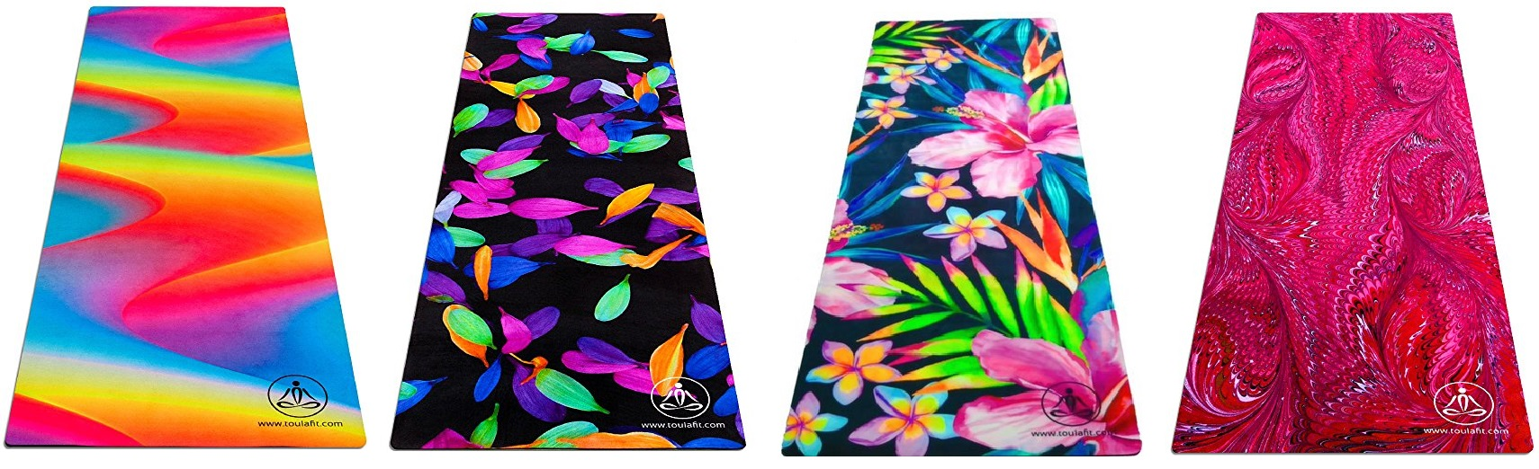 toulafit colorful yoga mats