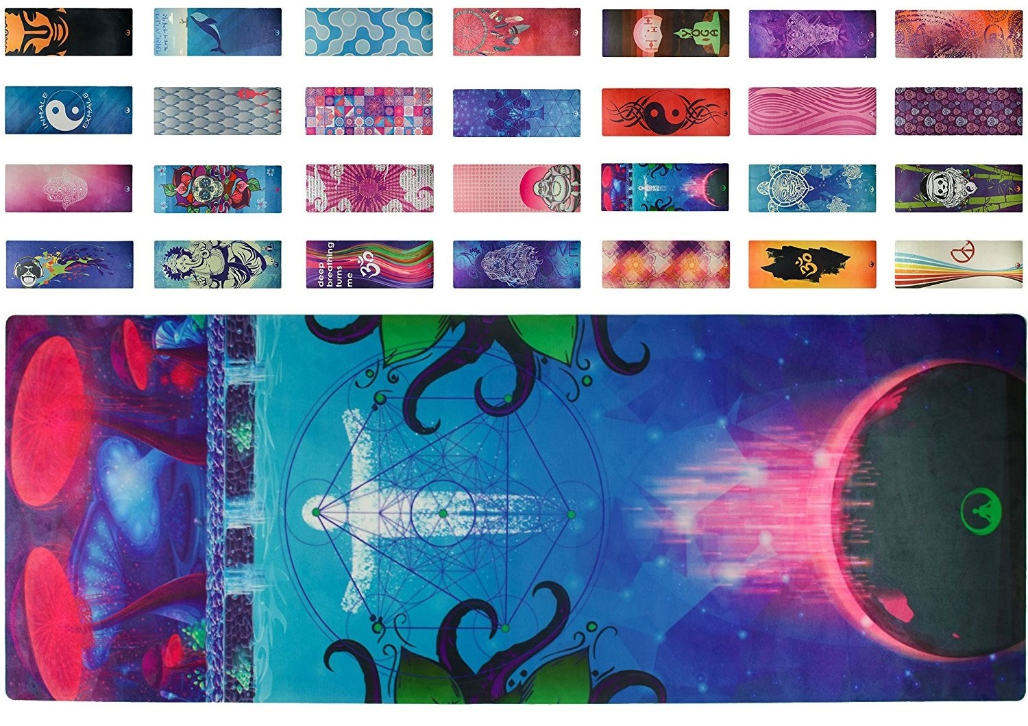 soul obsession psychedelic yoga mat