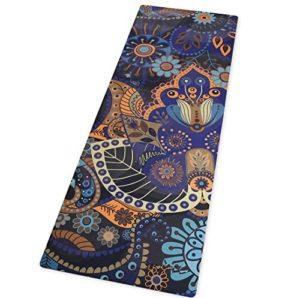 calming ornate abundant life yoga mat
